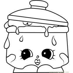 Saucy Pan Shopkins Free Coloring Page for Kids