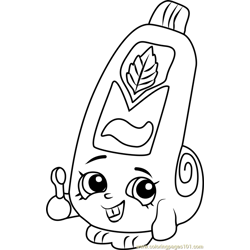 Scrubs Shopkins Free Coloring Page for Kids