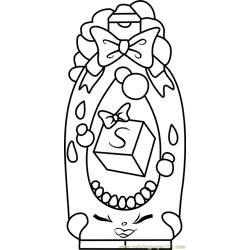 Shampoo Sue Shopkins Free Coloring Page for Kids