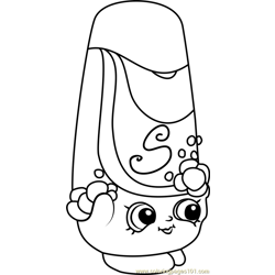 Shampy Shopkins Free Coloring Page for Kids