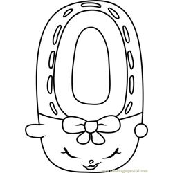 Shoes-Anne Shopkins Free Coloring Page for Kids