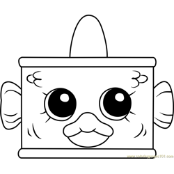 Tin'a'Tuna Shopkins Free Coloring Page for Kids