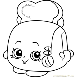 Toasty Pop Shopkins Free Coloring Page for Kids
