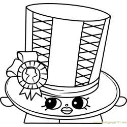 Toni Topper Shopkins Free Coloring Page for Kids