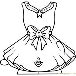 Tutucute Shopkins Free Coloring Page for Kids