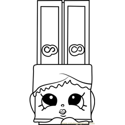 Wanda Wafer Shopkins Free Coloring Page for Kids