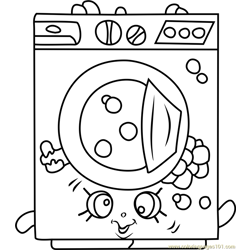 Washa Shopkins Free Coloring Page for Kids