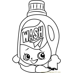 Wendy Washer Shopkins Free Coloring Page for Kids