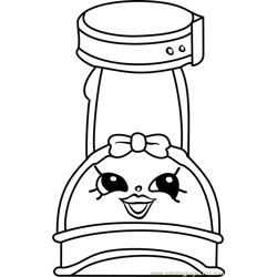 Wilma Wedge Shopkins Free Coloring Page for Kids