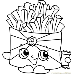 Wise Fry Shopkins Free Coloring Page for Kids