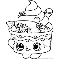 Yo-Chi Shopkins Free Coloring Page for Kids