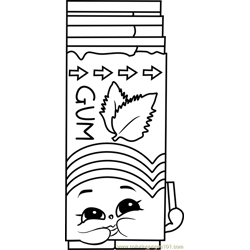 Yummy Gum Shopkins coloring page