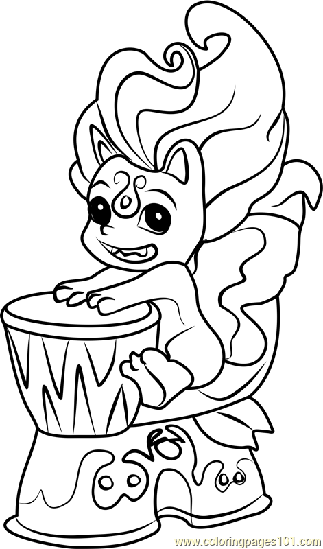 cheeky tiki zelf coloring page - Tiki Coloring Pages