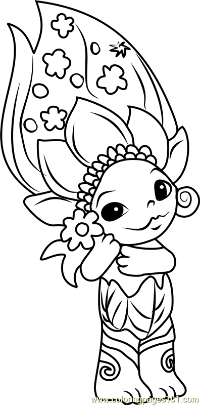 zelfs coloring pages | Daisy-May Zelf Coloring Page - Free The Zelfs Coloring ...