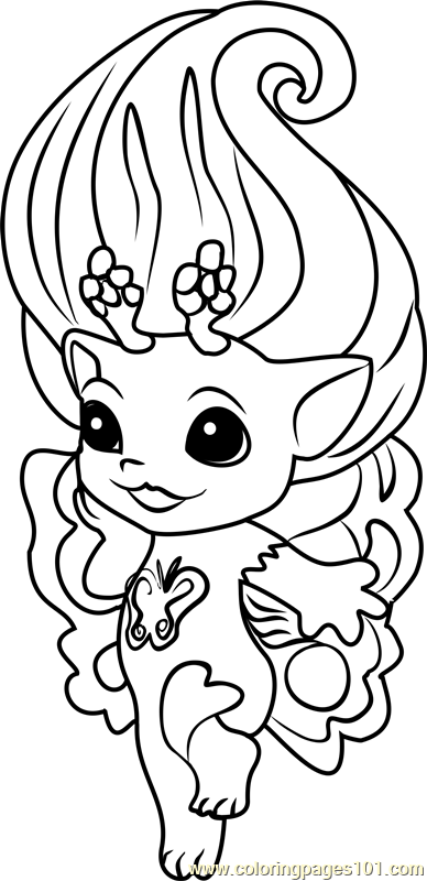 Dolly Zelf Coloring Page