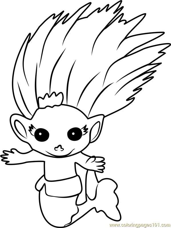 Flitterbelle Zelf Coloring Page