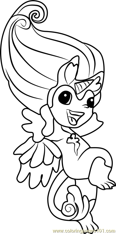 zelfs coloring pages | Hightail Zelf Coloring Page - Free The Zelfs Coloring ...