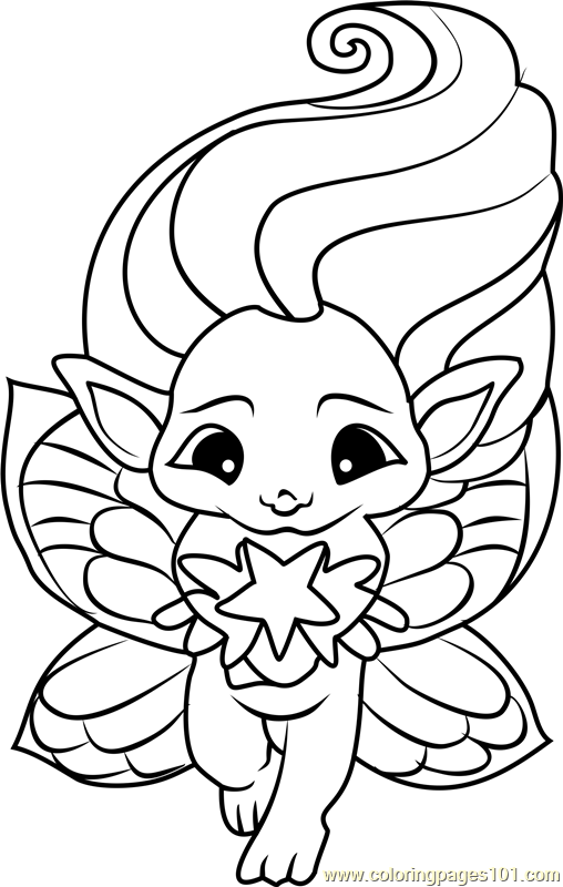 zelfs coloring pages | Lunanne Zelf Coloring Page - Free The Zelfs Coloring Pages ...