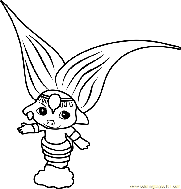 zelfs coloring pages | Magicella Zelf Coloring Page - Free The Zelfs Coloring ...