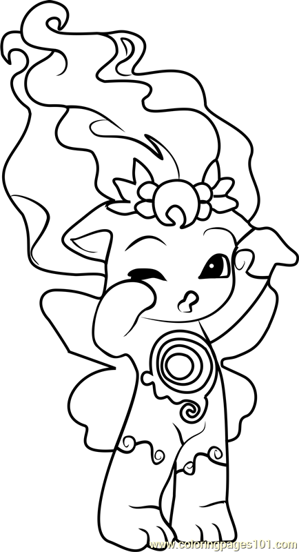 Moona Zelf Coloring Page