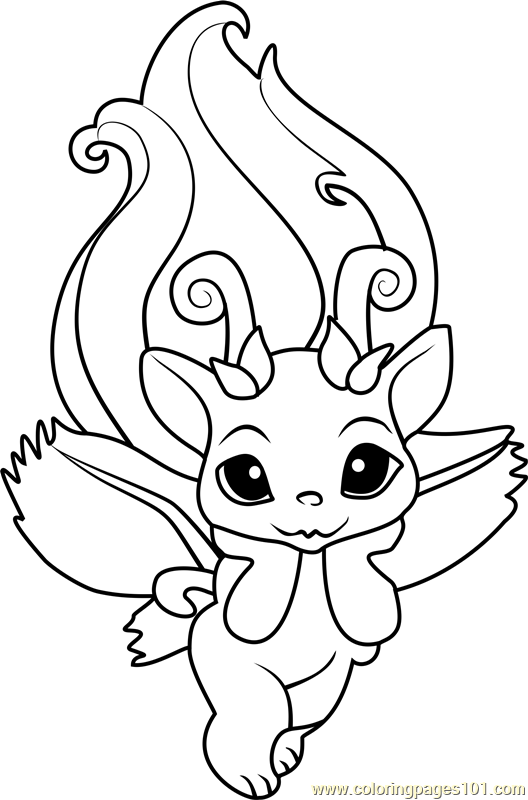 zelfs coloring pages | Petal Zelf Coloring Page - Free The Zelfs Coloring Pages ...