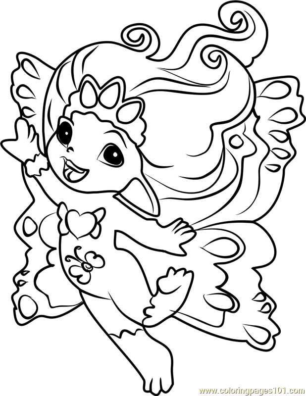 Princess Crystella Zelf Coloring Page