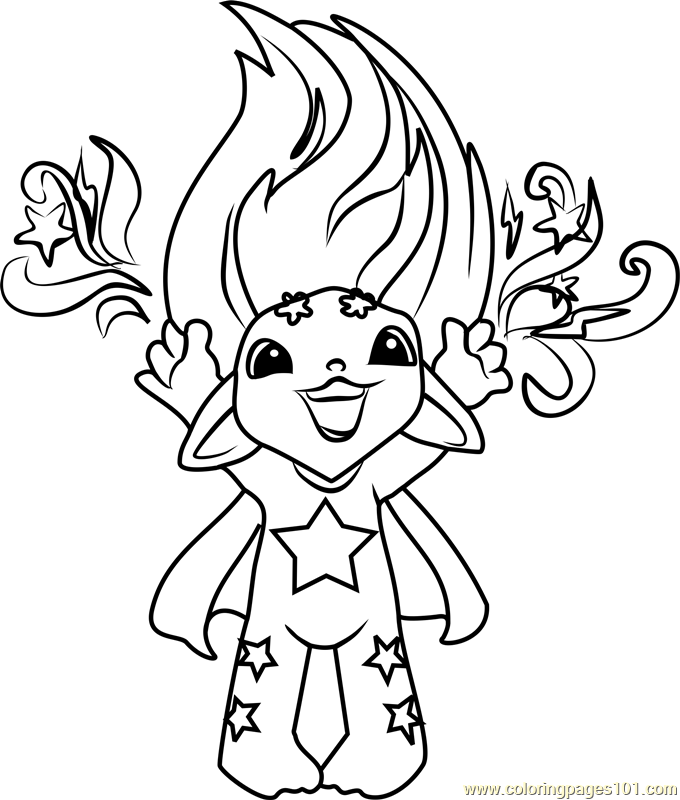 Starkle Zelf Coloring Page