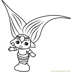 Magicella Zelf Free Coloring Page for Kids