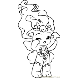 Moona Zelf Free Coloring Page for Kids