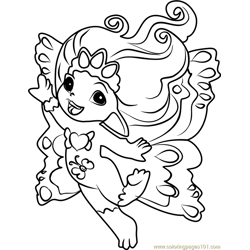 Princess Crystella Zelf Free Coloring Page for Kids