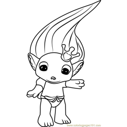 Royal Tia Zelf Free Coloring Page for Kids