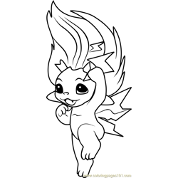 Ty Foon Zelf coloring page