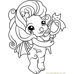 Vampula Zelf Free Coloring Page for Kids
