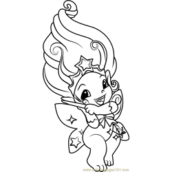 Wishka Zelf Free Coloring Page for Kids