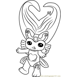 XX Butterluv Zelf Free Coloring Page for Kids
