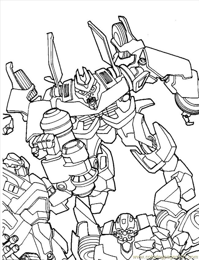 Transformers 06 Coloring Page Free Transformers Coloring