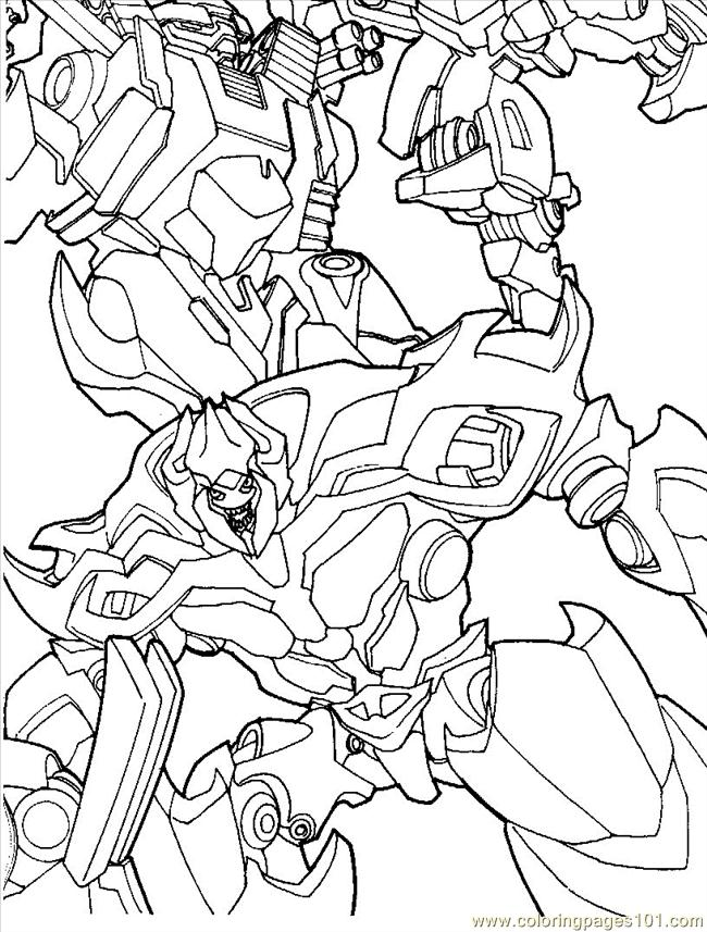 Transformers 07 Coloring Page  Free Transformers Coloring Pages