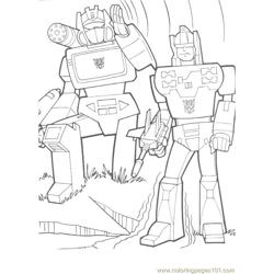 Transformers (030) Free Coloring Page for Kids