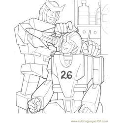 Transformers (033) Free Coloring Page for Kids