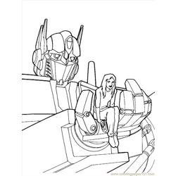 Transformers (03) Free Coloring Page for Kids