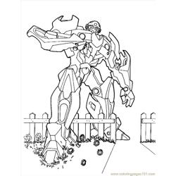 Transformers (04) Free Coloring Page for Kids