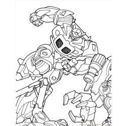 Transformers (05) Free Coloring Page for Kids