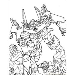 Transformers (06) Free Coloring Page for Kids