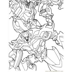 Transformers (07) Free Coloring Page for Kids