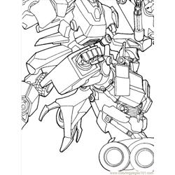 Transformers (08) Free Coloring Page for Kids