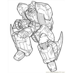 Transformers (09) Free Coloring Page for Kids
