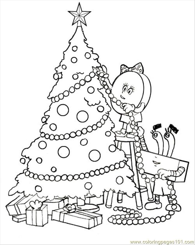 34 Tree Coloring Page