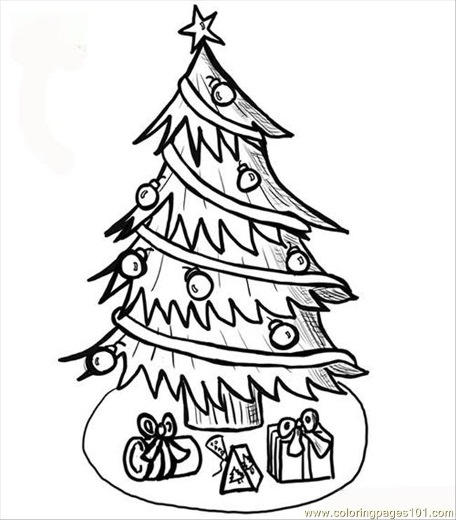 christmas tree coloring page coloring page free trees coloring pages coloringpages101 com coloring pages 101