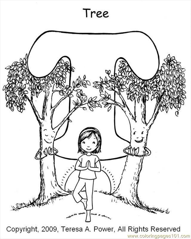 T Tree Coloring Page Coloring Page