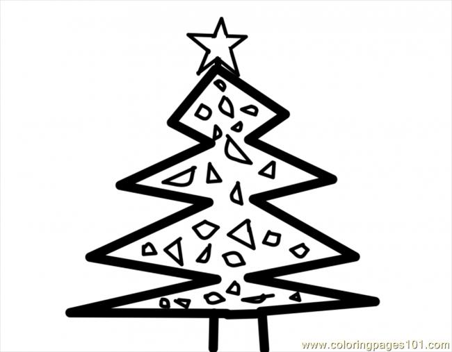 Christmas Tree001.preview Coloring Page